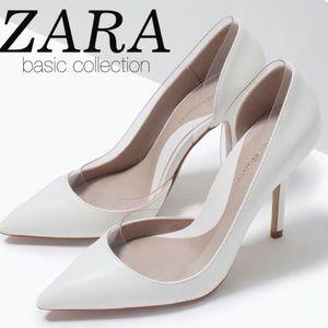 Zara White high heels